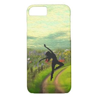 Dancer Dancing Near Field of Flowers iPhone 7 Case