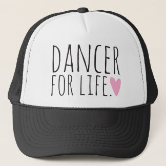 Dancer For Life Black with Heart Trucker Hat