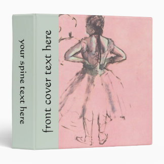 Dancer from the Back by Edgar Degas Vintage Ballet Binders