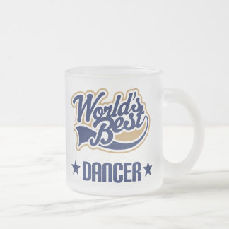 Dancer Gift (Worlds Best) Frosted Glass Coffee Mug