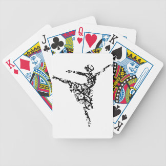 dancer hearts2 bicycle playing cards