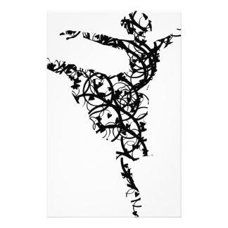 dancer hearts2 stationery