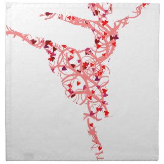 dancer hearts napkin