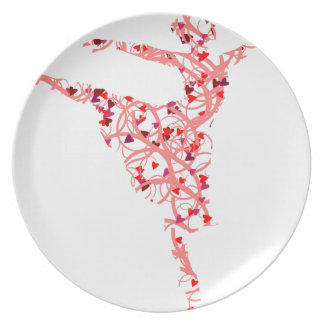 dancer hearts plate