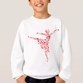 dancer hearts sweatshirt