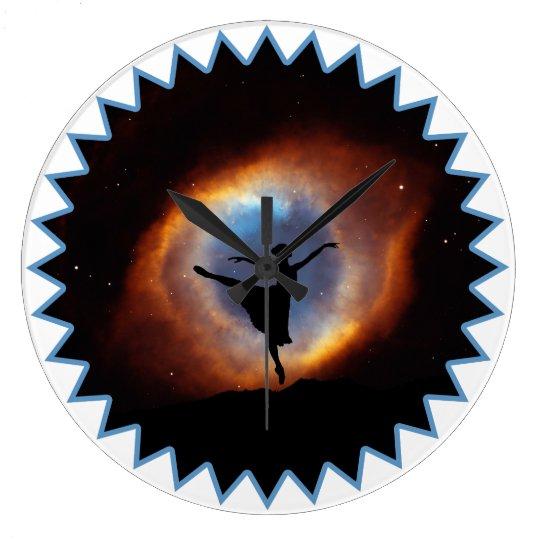DANCER IN GOD'S EYE: Ballerina & Helix Nebula Clock