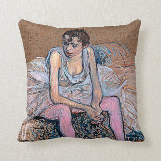 Dancer in Pink Tights Throw Pillow