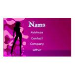 Dancer In Purple Pink Business Card