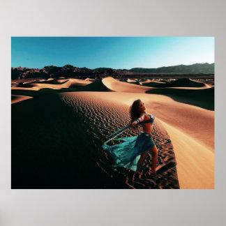 Dancer in Sand Dunes Poster