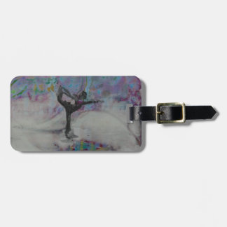 Dancer In The Snow - Luggage tag