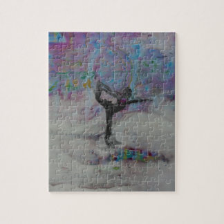Dancer In The Snow Yoga Girl Jigsaw Puzzle