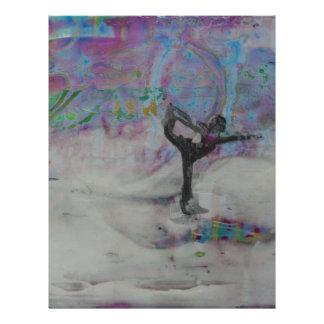 Dancer In The Snow Yoga Girl Letterhead