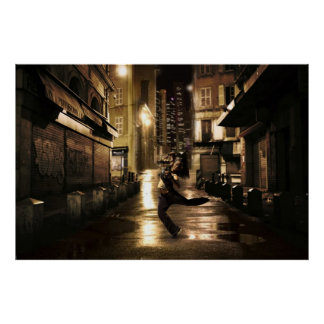 Dancer in Urban Streets Poster