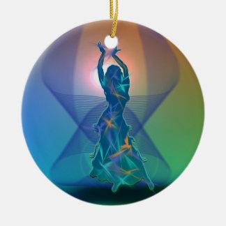 Dancer *Pheja* Round Ceramic Ornament
