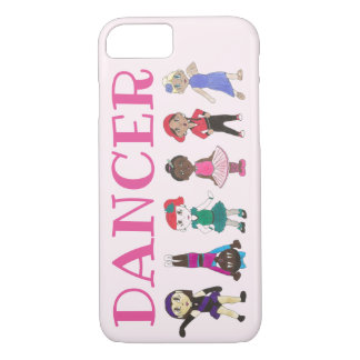 DANCER Pink Ballerina Girl Tap Jazz Acro Hip Hop iPhone 8/7 Case