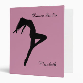 Dancer Retire Silhouette Personalized Binder