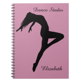 Dancer Retire Silhouette Personalized Spiral Notebooks