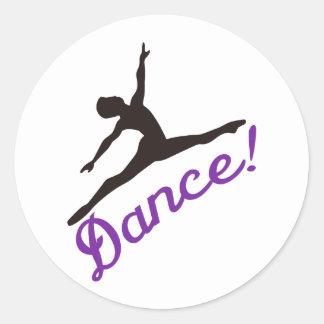 Dancer Round Sticker