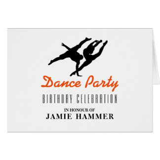 Dancer Silhouette Birthday Party Invitation