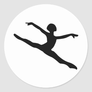 Dancer Silhouette Classic Round Sticker