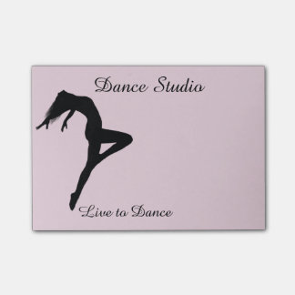 Dancer Silhouette Personalized Pick Any Color Post-it Notes