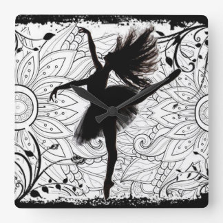 Dancer Square Wall Clock