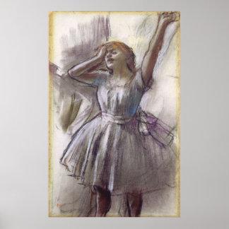 Dancer Stretching by Edgar Degas, Vintage Ballet Poster