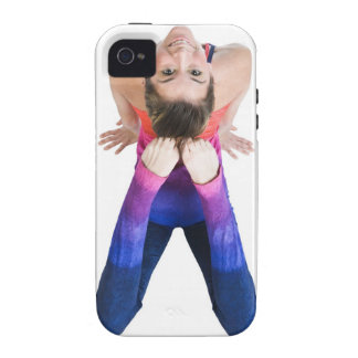 Dancer touching feet to head vibe iPhone 4 cases