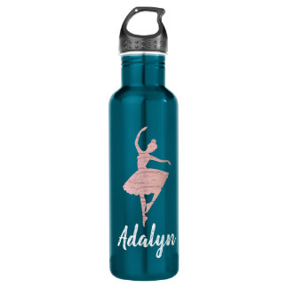 Dancer Water Bottle Gift for Dancer Rose Gold