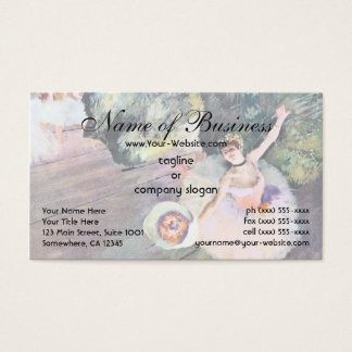 Dancer with a Bouquet of Flowers by Edgar Degas Business Card