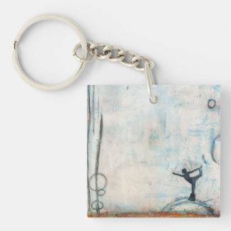 Dancer Yoga Girl (double-sided) Keychain