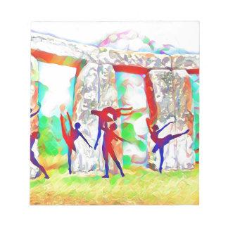 Dancers at Stonehenge Notepads