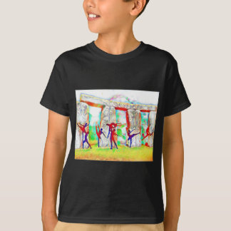 Dancers at Stonehenge T-Shirt