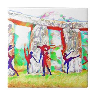 Dancers at Stonehenge Tile