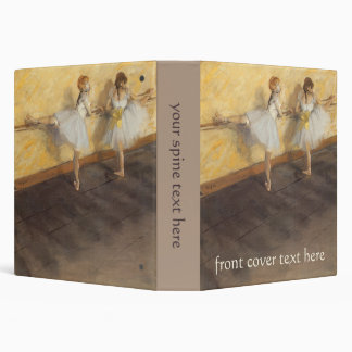 Dancers at the Bar by Edgar Degas, Vintage Ballet Binders