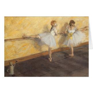 Dancers at the Bar by Edgar Degas, Vintage Ballet Card
