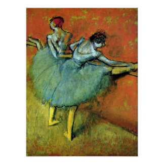 Dancers at the Bar by Edgar Degas, Vintage Ballet Poster