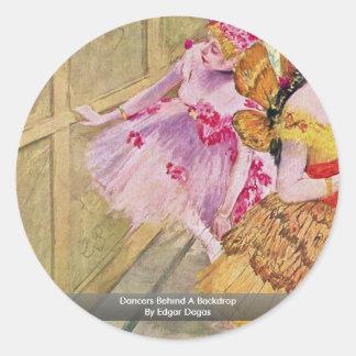 Dancers Behind A Backdrop By Edgar Degas Sticker