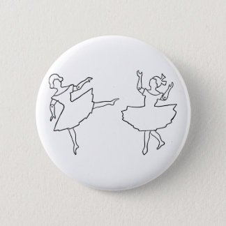 Dancers Cutout Illustration 2 Inch Round Button