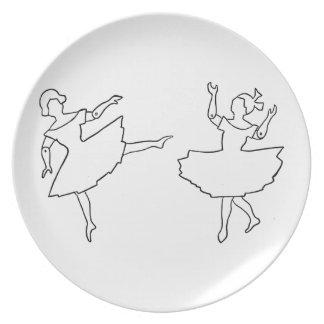 Dancers Cutout Illustration Dinner Plates