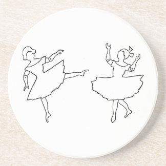 Dancers Cutout Illustration Drink Coasters