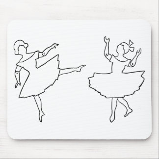Dancers Cutout Illustration Mouse Pad