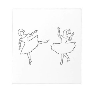 Dancers Cutout Illustration Notepad