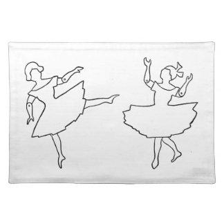 Dancers Cutout Illustration Placemats