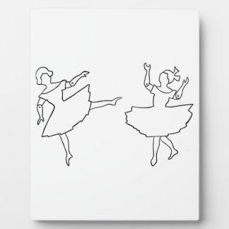 Dancers Cutout Illustration Plaques