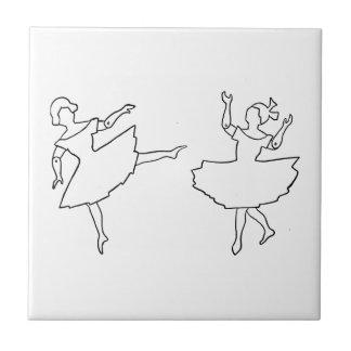Dancers Cutout Illustration Tiles