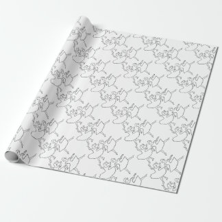 Dancers Cutout Illustration Wrapping Paper