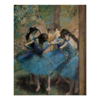 Dancers in blue 1890 posters