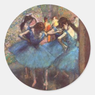 Dancers in Blue Round Sticker