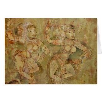 Dancers - Kerala, India Card